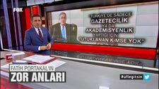 Fatih Portakal'ın canlı yayında zor anları