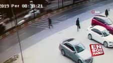 Kadın sürücü yaşlı adamı metrelerce havaya fırlattı