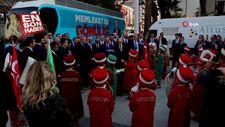 Minik mehteranlardan Erdoğan'a konser