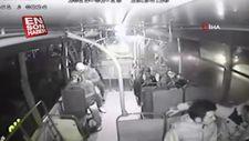 Otobüste tacizciye dayak