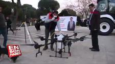 Aydın'da drone ile dezenfekte yapıldı