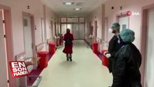 Tedavisi tamamlanan hastalar alkışlarla taburcu oldu