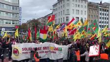 Almanya'da terör örgütü PKK/YPG yandaşları sokaklarda