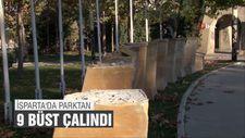 Şehitler Parkı'ndaki 9 Türk büyüğünün büstü çalındı