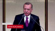 Başkan Erdoğan'dan AİHM açıklaması