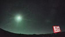 ABD'de meteor düşme anı kamerada