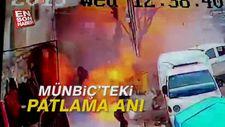 Münbiç'teki patlama anı
