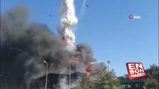 Tuzla'da fabrika yangınında patlama: 1 itfaiye eri yaralı
