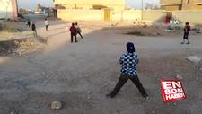 Tel Abyadlı çocukların futbol sevinci