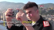 Bursalı genç iPhone'un yazılım açığını buldu