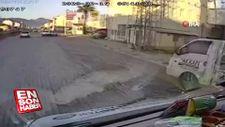 Emniyet kemeri takmayan sürücü otomobilden fırladı