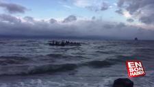 Düzensiz göçmenlerin Midilli'ye geçişleri sürüyor