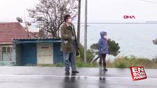 Tekirdağ'a yürüyerek giren aile