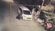 Silivri'de park halindeki araç kundaklandı