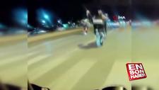 Pendik'te motosikletlinin tek teker kazası