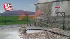 Antalya'da çiftçi, 75 metrede su ararken gaz buldu