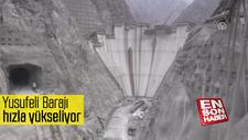 Yusufeli Barajı hızla yükseliyor