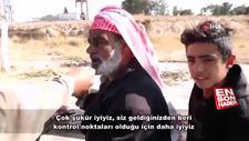 Tel Abyad'lılardan Mehmetçiğe teşekkür