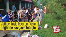 Votkayı fazla kaçıran Ruslar, düğünde kavgaya tutuştu