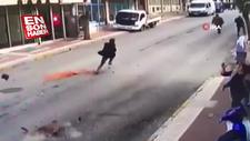 Depremden kaçarken ölümden son anda kurtuldu