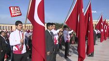 23 Nisan törenleri Anıtkabir'de başladı