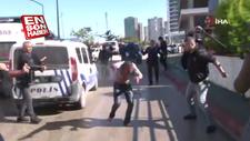 Kendine zarar veren kişiye polisten müdahale