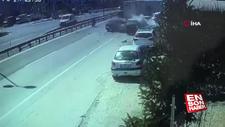 E-5'te 6 araçlı zincirleme kaza