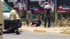 Beylikdüzü'nde sokak ortasında kadına şiddet