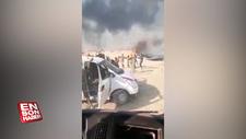 Teröristler tarım arazilerini yakıp, halay çekti