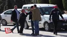 Kapkaçtan tutuklanan oğlunu görünce ağlamaya başladı