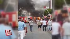 İzmir'de, belediye otobüse alev alev yandı