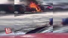 Mangal ateşi, 2 otomobili yaktı