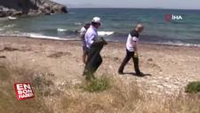 Bodrum Belediye Başkanı çöp topladı