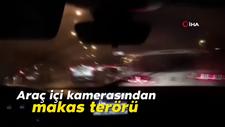 Araç içi kamerasından makas terörü