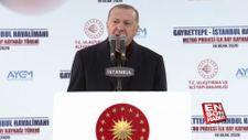 Erdoğan, havalimanı metrosu için ilk kaynak töreninde