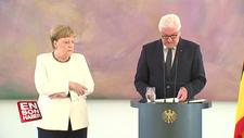 Angela Merkel yine titrerken görüntülendi
