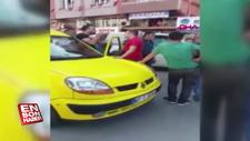 Zonguldak'ta taksici ile kadın sürücü sokak ortasında tartıştı