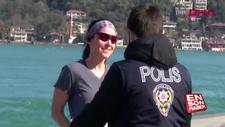 Sahil yasağına rağmen spor yapan 2 kadına ceza kesildi