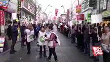 Sancaktepe'de Kanal İstanbul protestosu