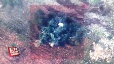 Kamufle edilmiş Rejim tankının imha edilme anı