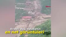 Araklı'daki felaketin en net görüntüleri