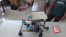 Kol hareketiyle kontrol edilebilen engelli araç