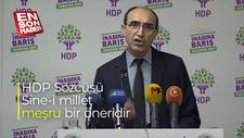 HDP Sözcüsü Kubilay: Sine-i millet meşru bir öneridir