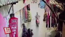Kumaş hırsızlığı güvenlik kamerasında