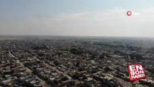 Teröristlerden arındırılan Resulayn havadan görüntülendi