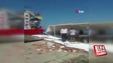 Balıkesir'de feribot iskeleye çarptı