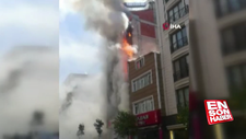 Kağıthane'de 6 katlı bina yandı
