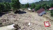 Selin vurduğu Esmahanım köyü havadan görüntülendi