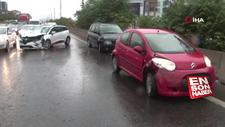 E-5'te yağmur kazası: 6 araç birbirine girdi