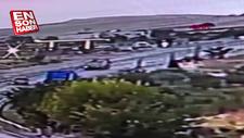 Tunceli'de 4 kişinin öldüğü kazanın güvenlik kamerası görüntüsü